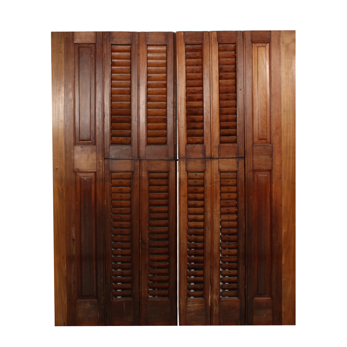 outstanding antique interior wood shutters early 1900 39 s nshr3 rw for sale