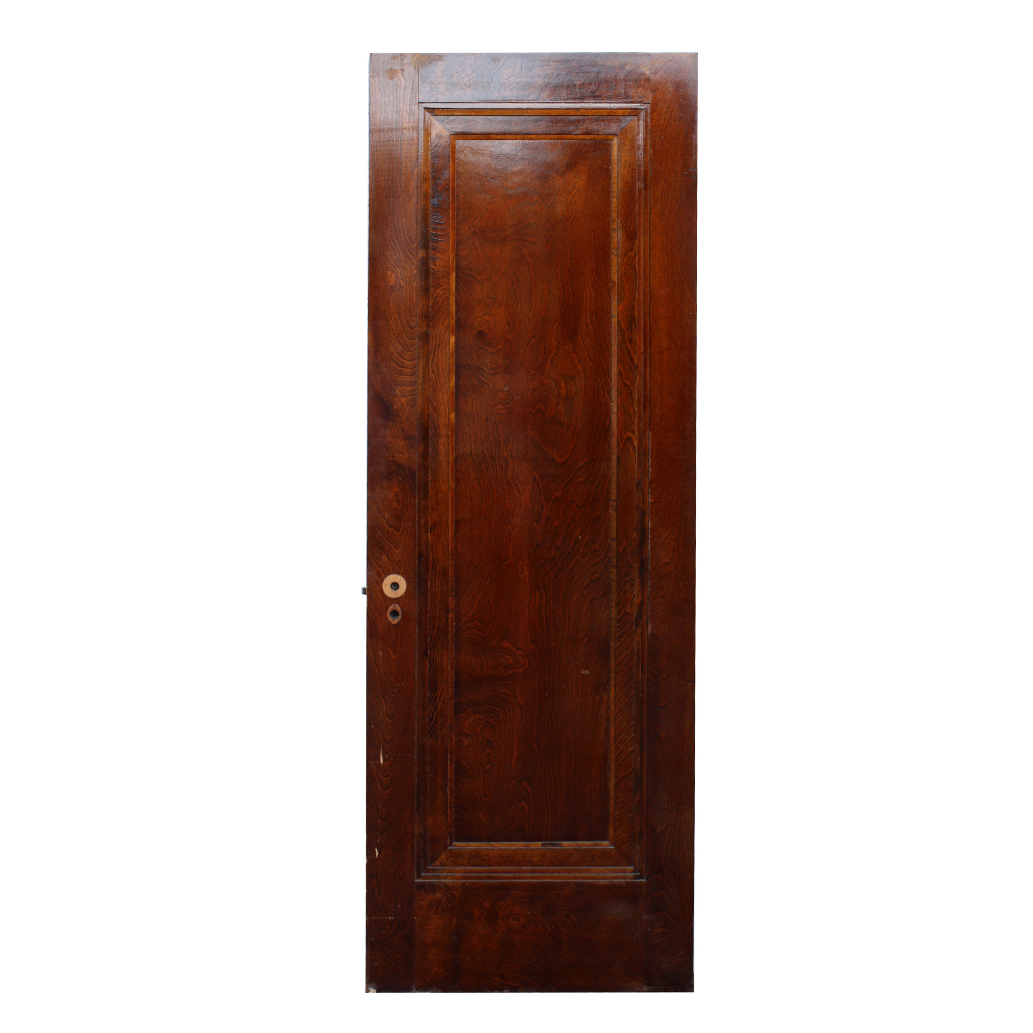 Antique one panel 28 solid wood miracle door with beveled for Vintage solid wood doors