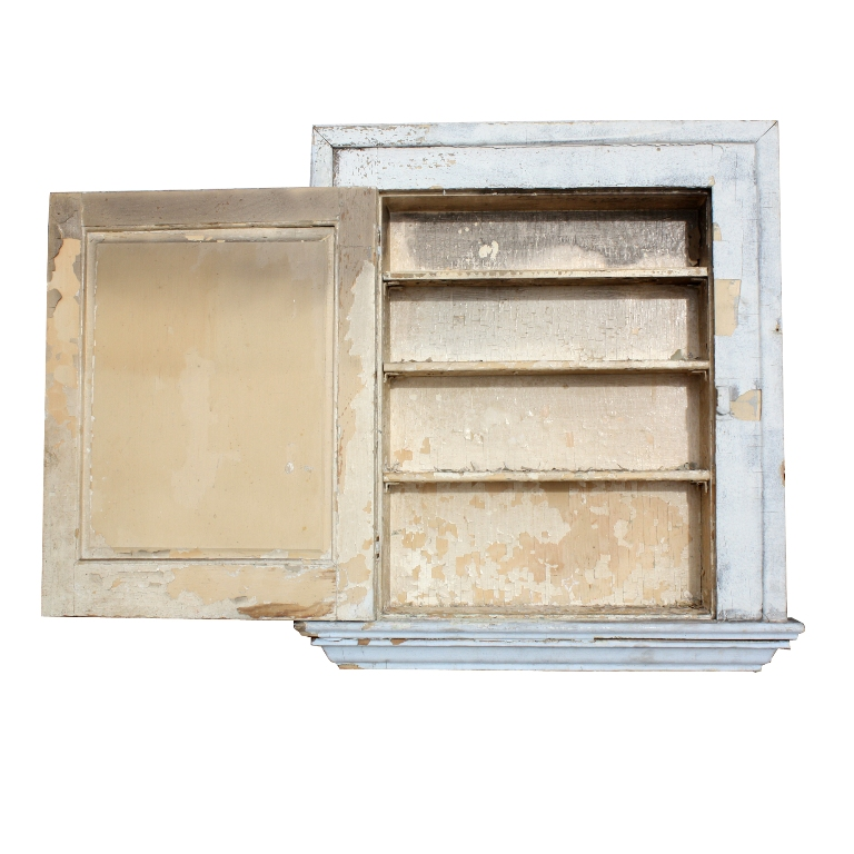 Salvaged Antique Bathroom Medicine Cabinet with Mirror, Early 1900's NMC16  - For Sale - Salvaged Antique Bathroom Medicine Cabinet With Mirror, Early 1900's