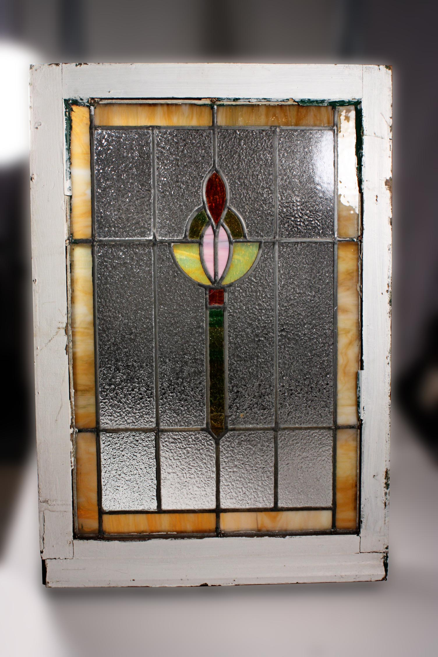 Vibrant antique american stained glass window nsg39 for for Windows for sale