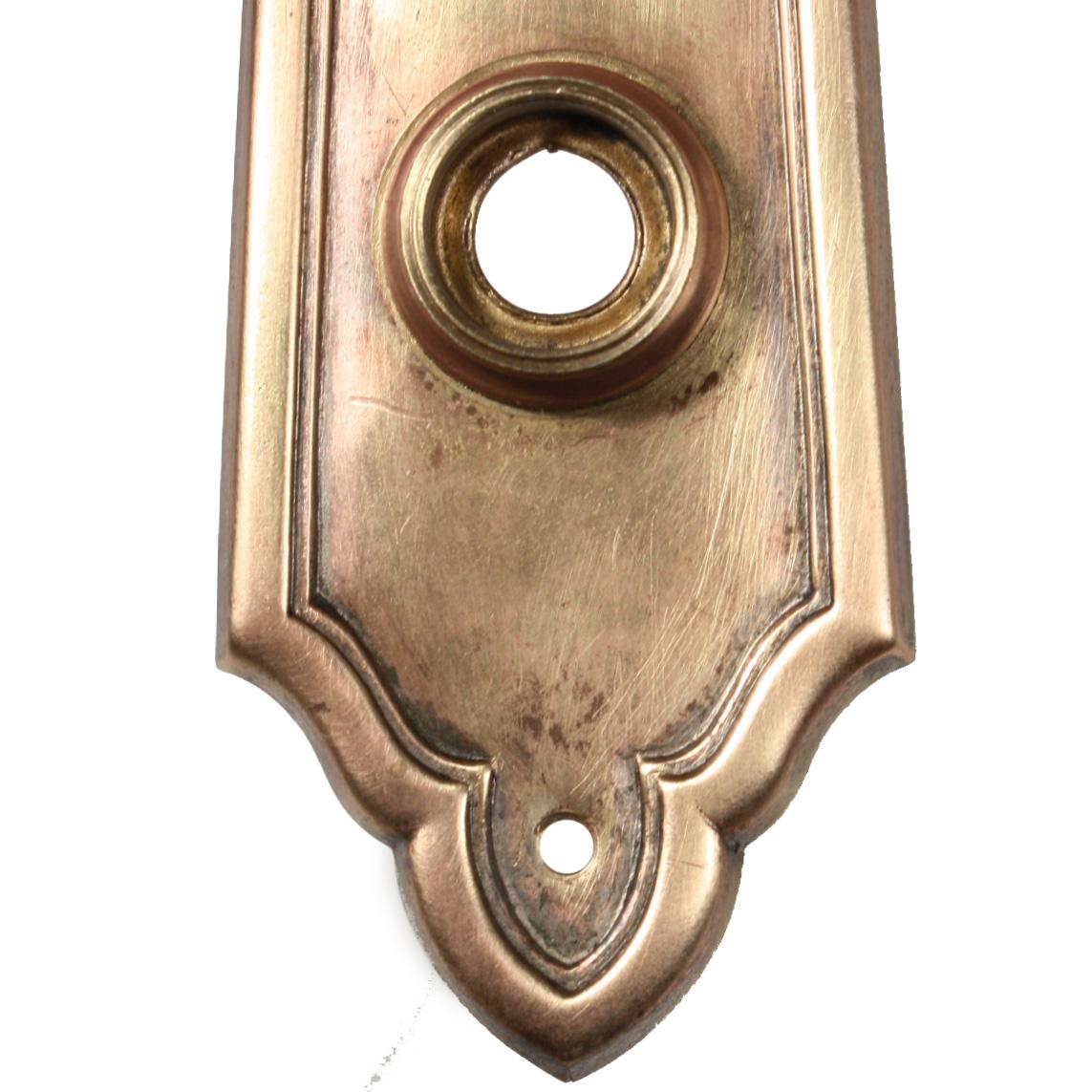 Elegant Antique Brass Exterior Door Hardware Set Design By Yale C 1905 Ndks209 Rw For Sale