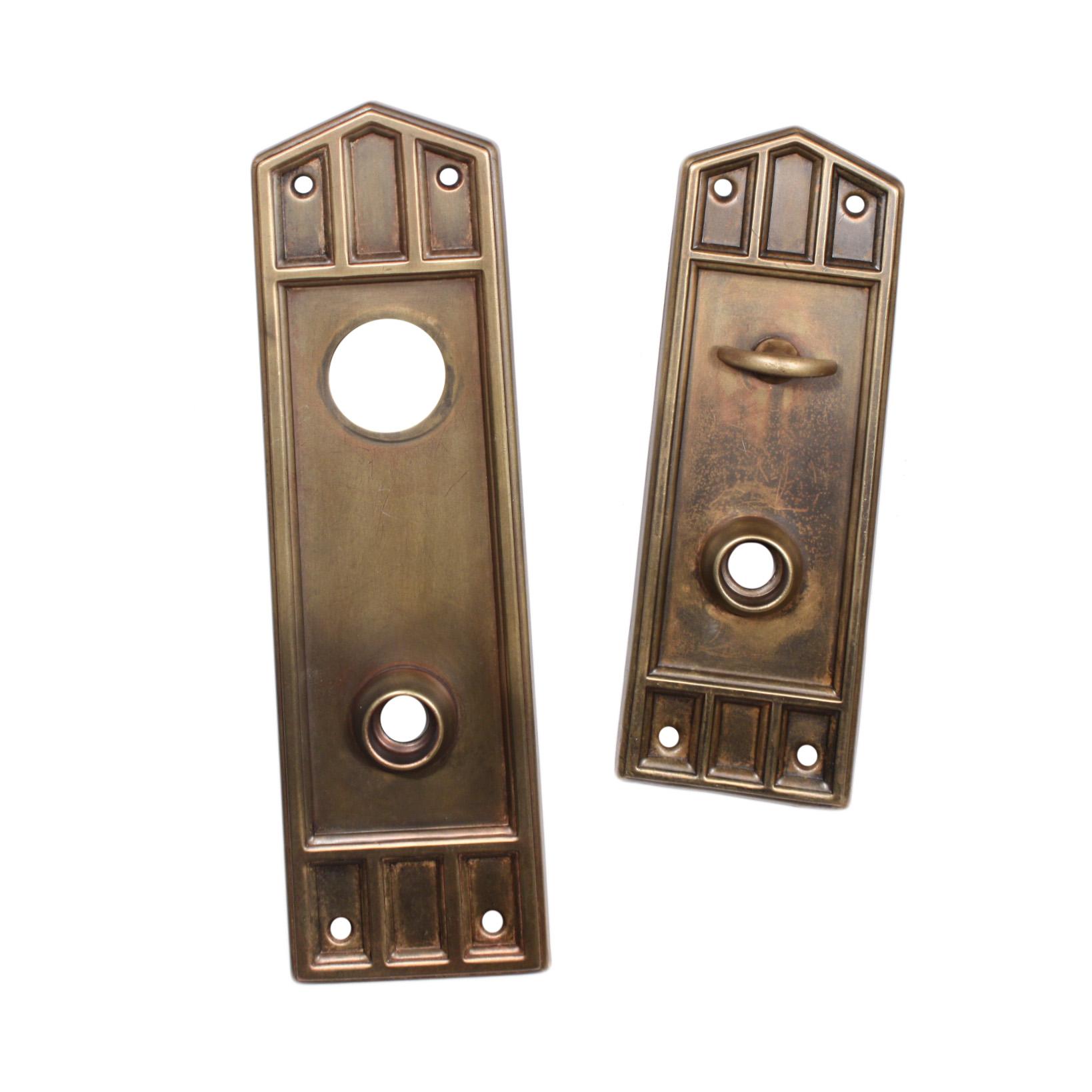 Antique exterior door hardware complete antique arts for Arts and crafts exterior door hardware