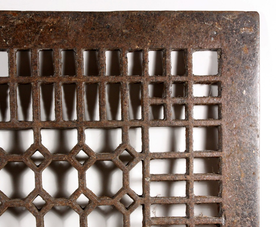 Antique Cast Iron Floor Air Return Grille 22 X 26