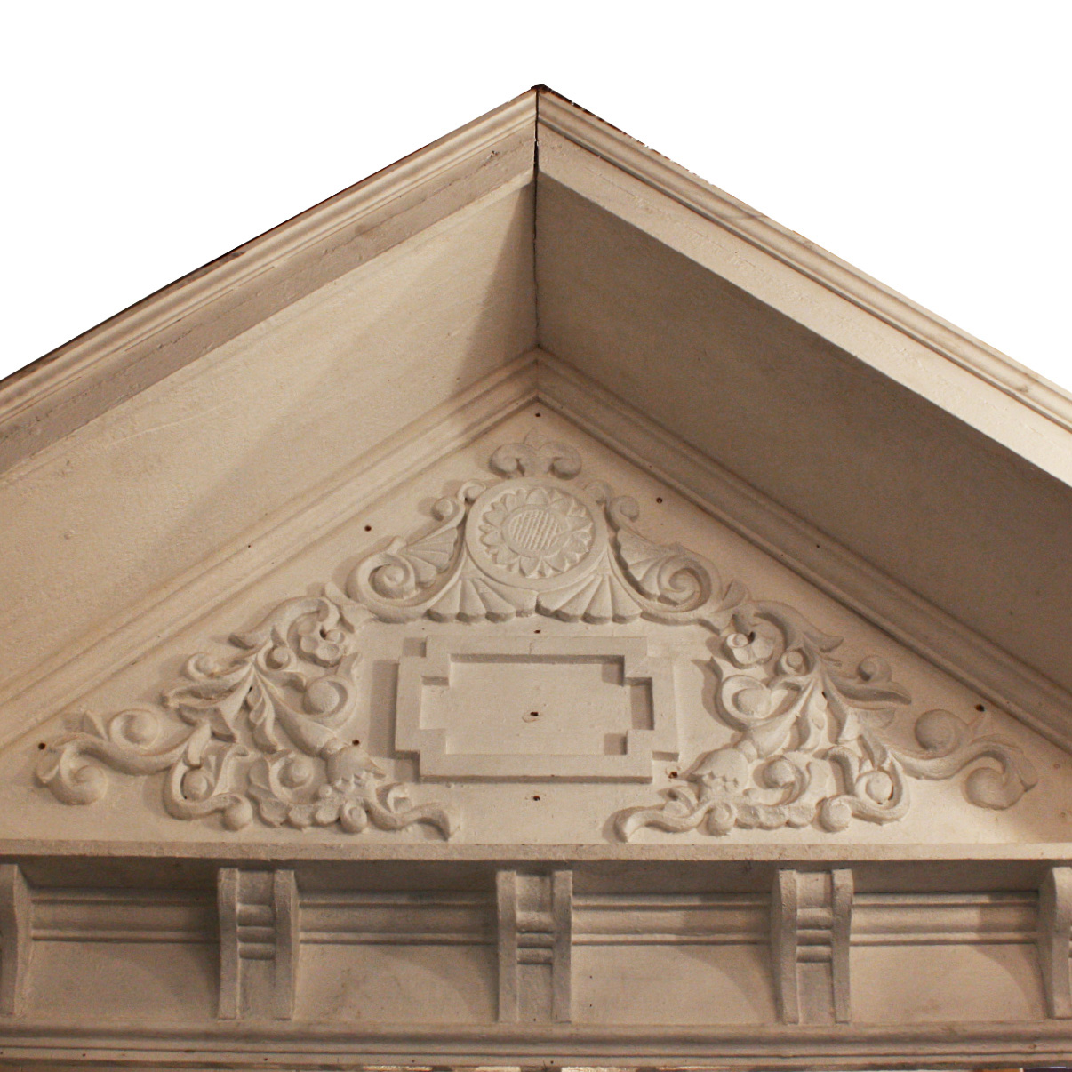 Extraordinary antique victorian entry portico with for Gable pediments for sale
