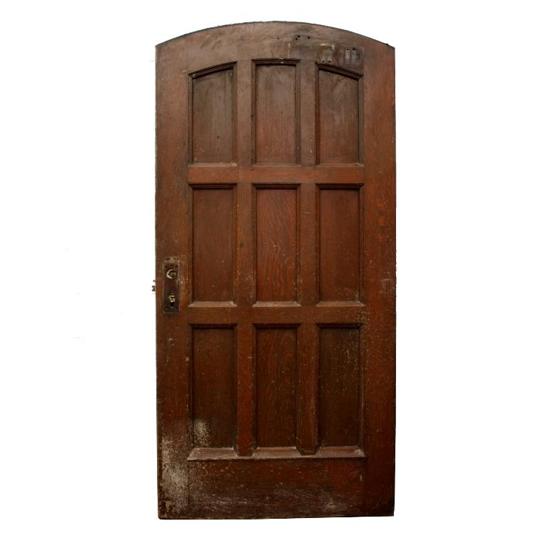 Antique 40 Oak Arched Entry Door From Vanderbilt University C 1930 S Ned170 For Sale