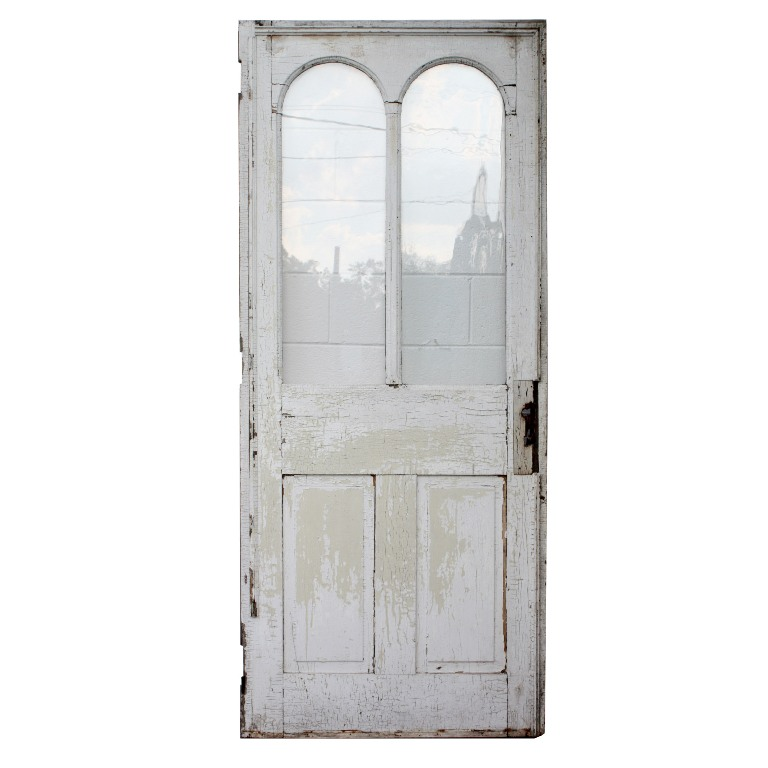 Charming antique 34 exterior door with arched windows c for Exterior windows for sale