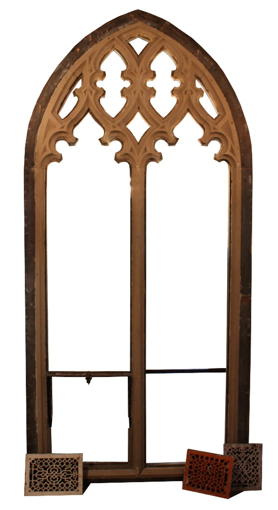 Magnificent 9 5 Antique Gothic Arch Window Late 19th