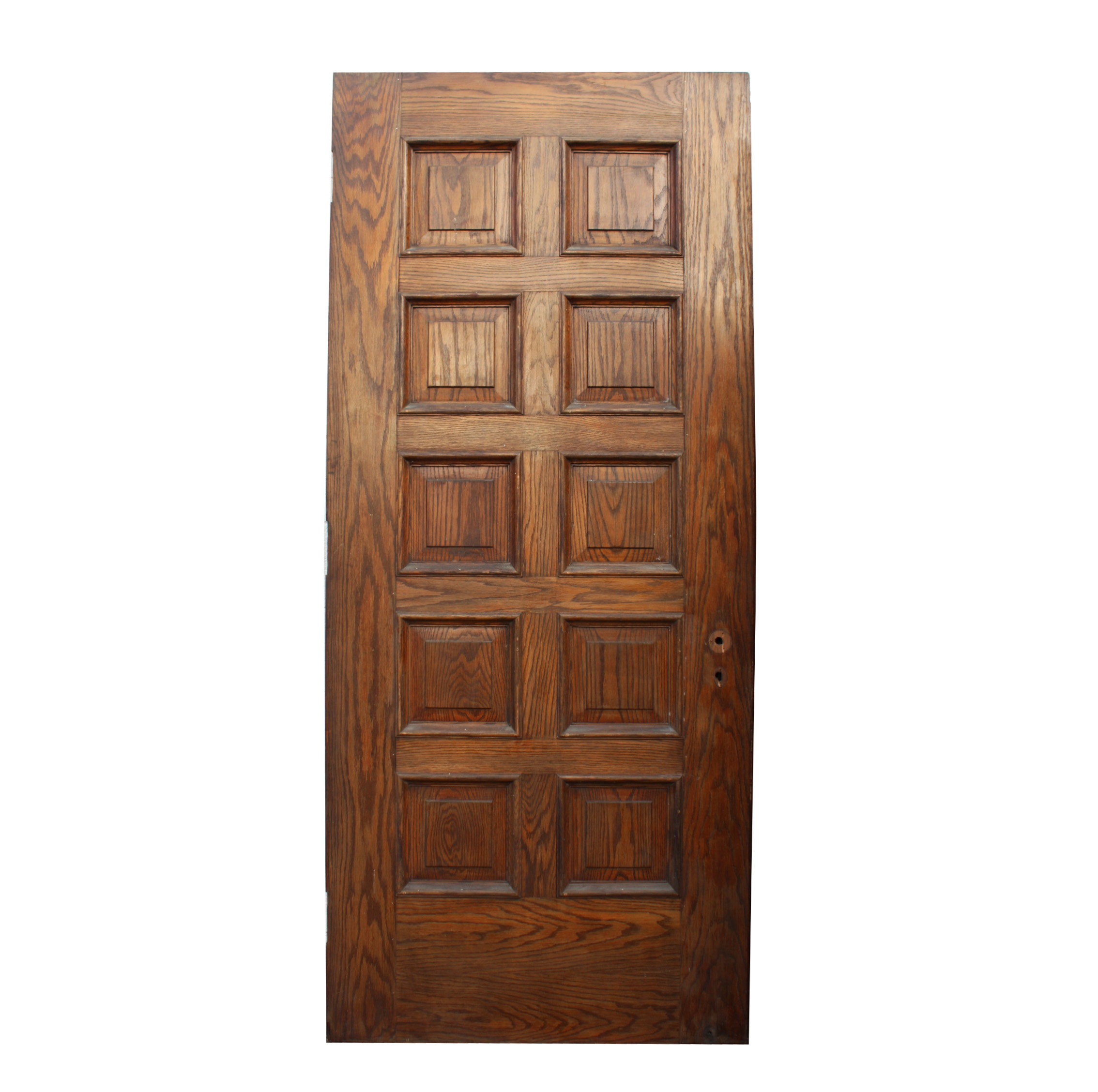 handsome antique 36 solid wood door with recessed panels nid26 rw for