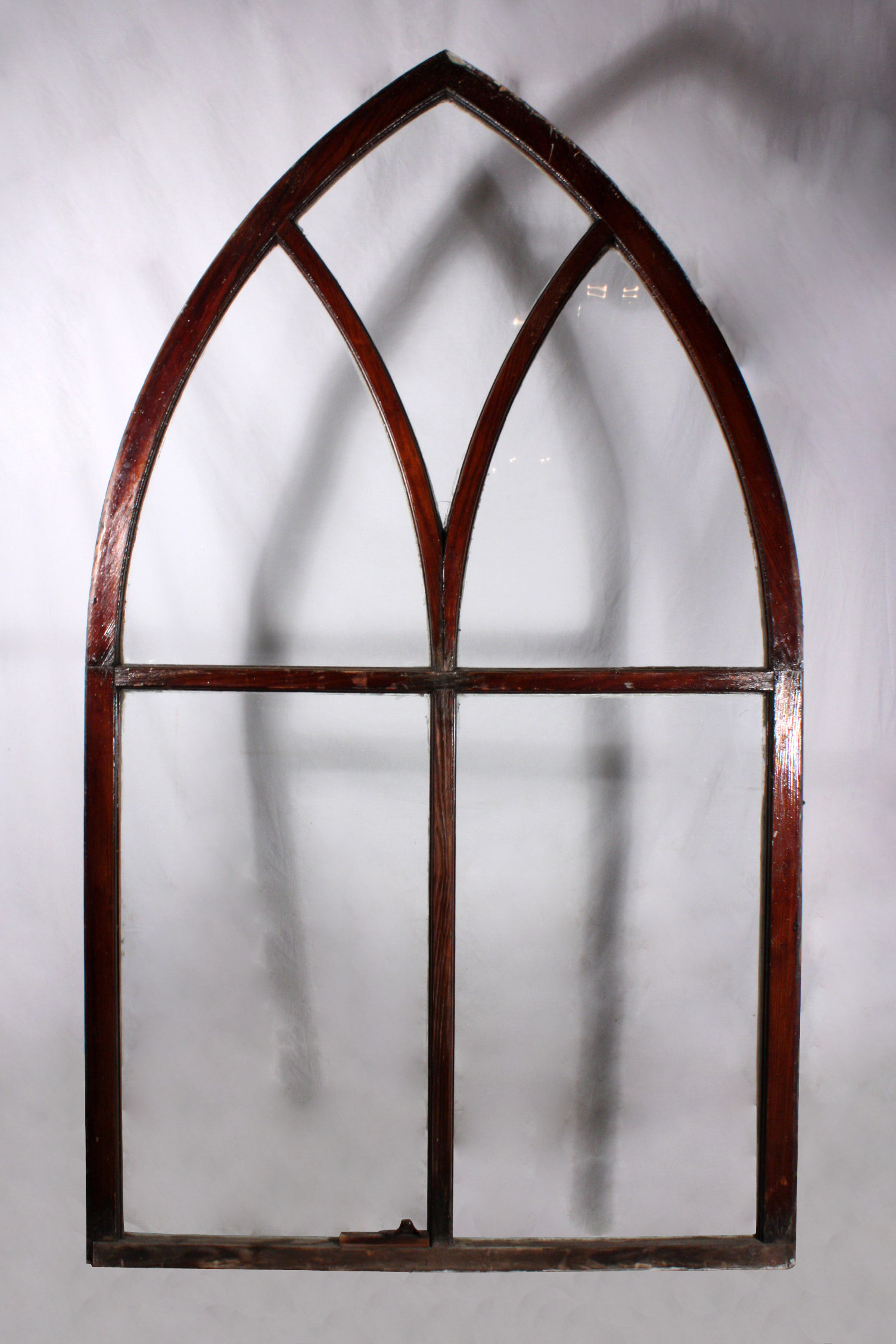 Splendid Antique Gothic Arch Window Early 1900 S Nw4