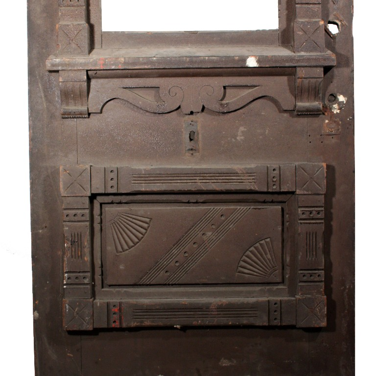 Large Antique Eastlake Exterior 38 Door With Carved
