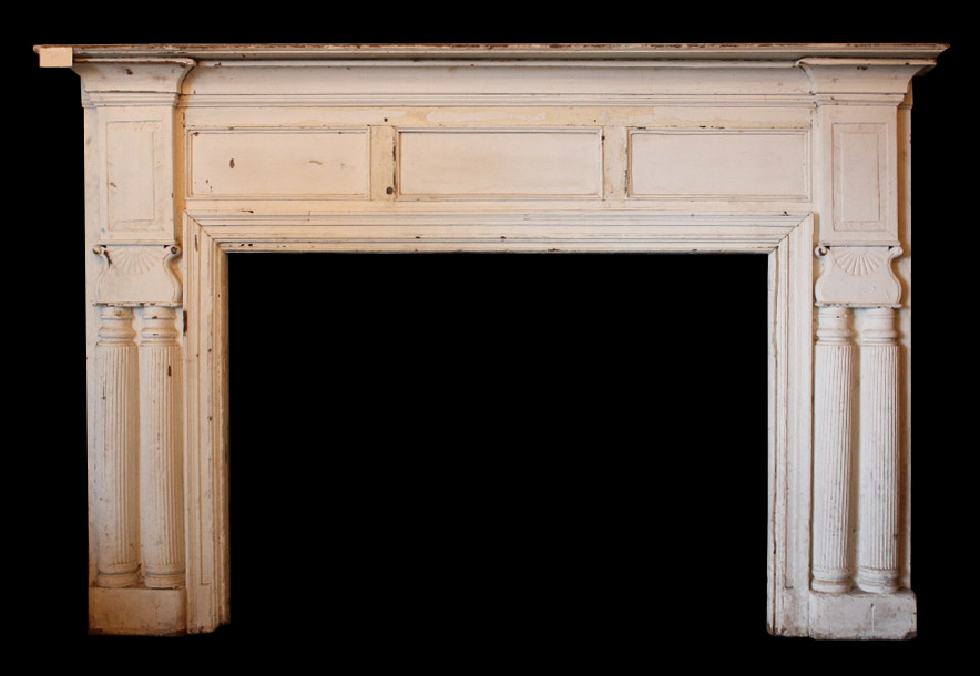 Very Large 8 Antique Fireplace Mantel 19th Century Nfpm13 For Sale Classifieds