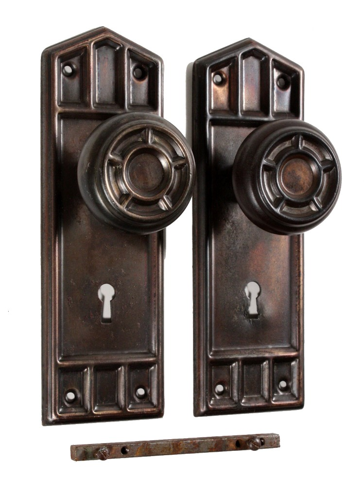 antique mission door hardware sets with doorknobs plates