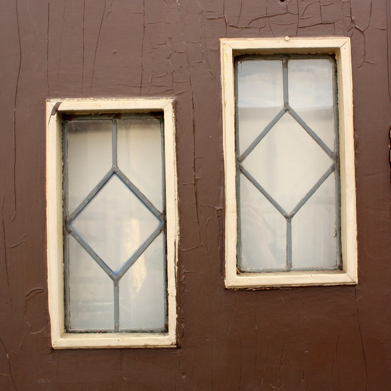 Charming antique exterior arched 36 door with three leaded for Exterior windows for sale