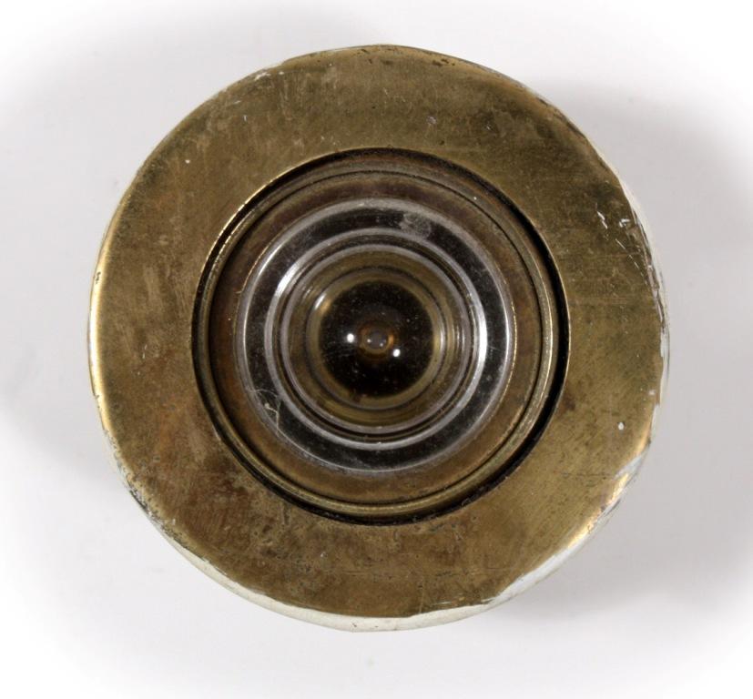 Very unusual vintage tilting peephole for door 1947 patent date nph1 for sale - Antique peephole ...