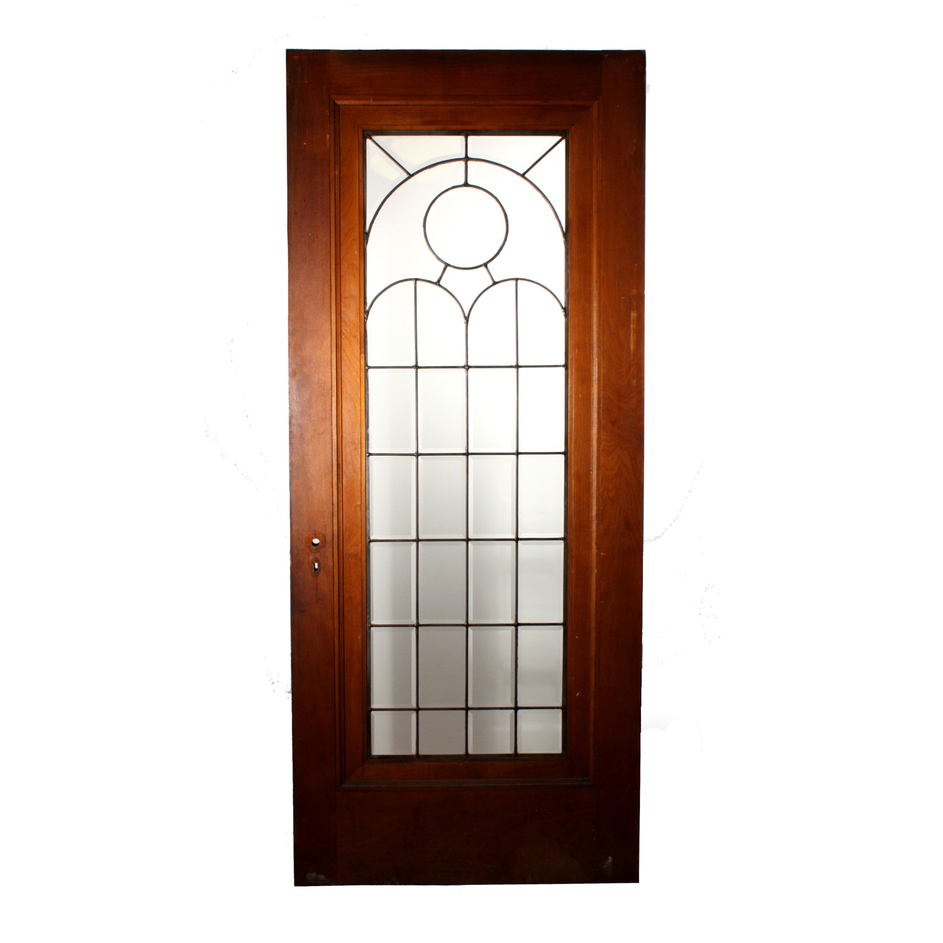 beautiful 34 salvaged exterior door with beveled leaded