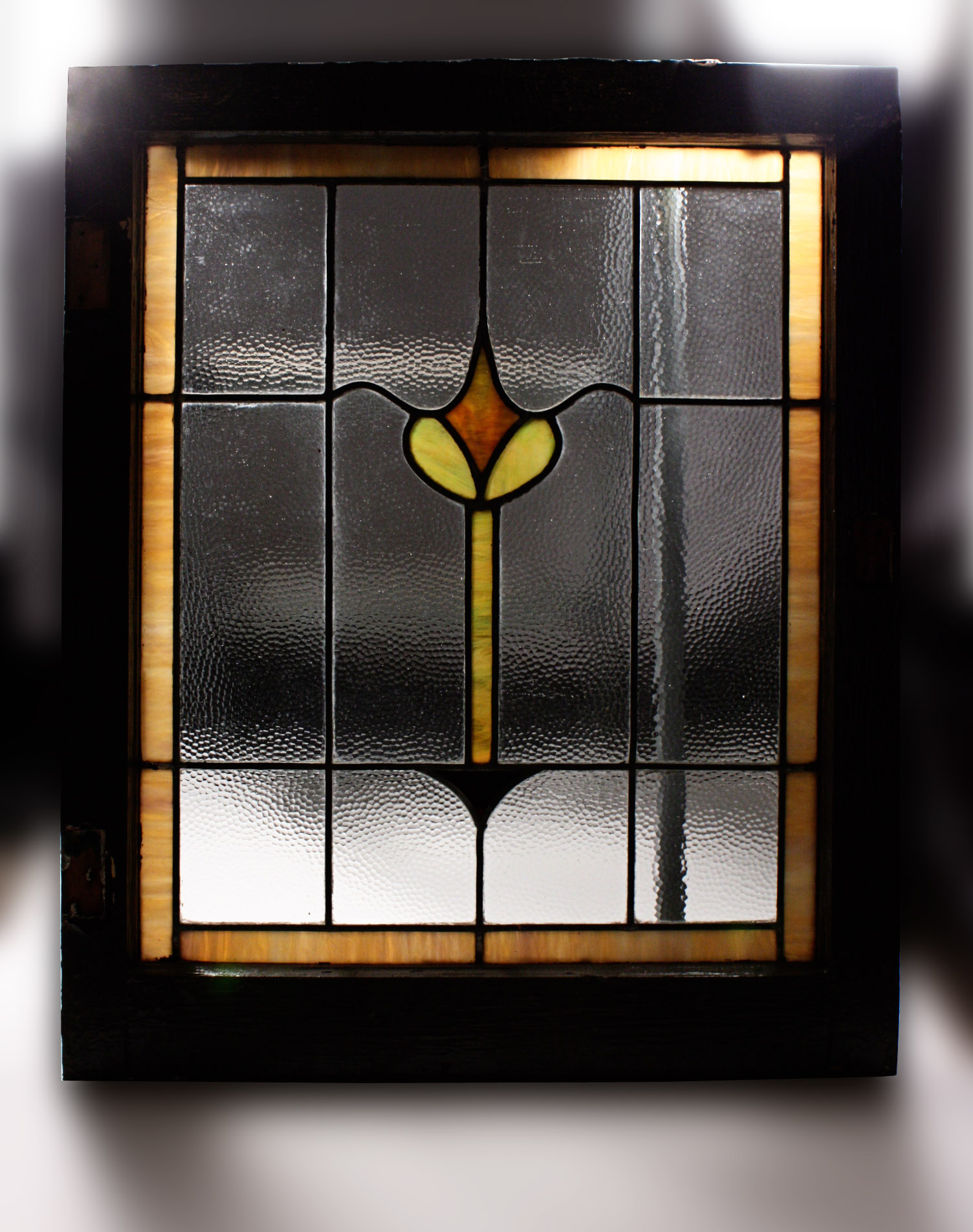 Superb Antique American Stained Glass Window Nsg34 For