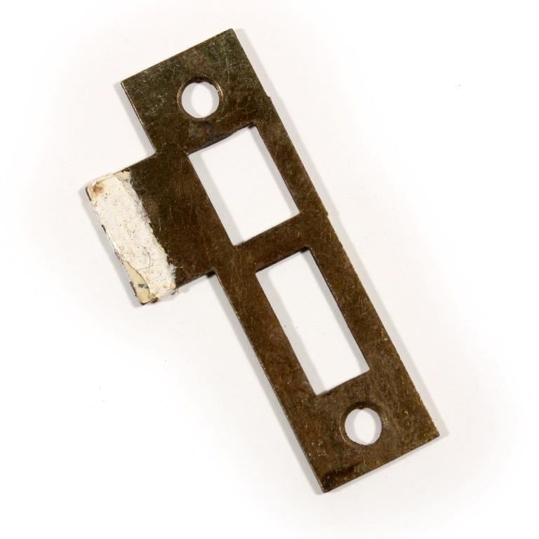 "1//4"" Spacing NSTP58 Antique Strike Plates for Mortise Locks"