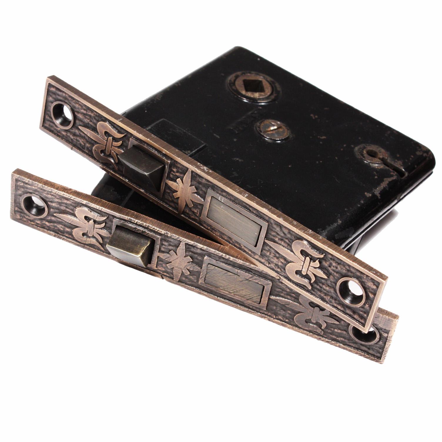 Antique Cast Bronze Fleur-de-Lis Doorknob Sets with Matching ...