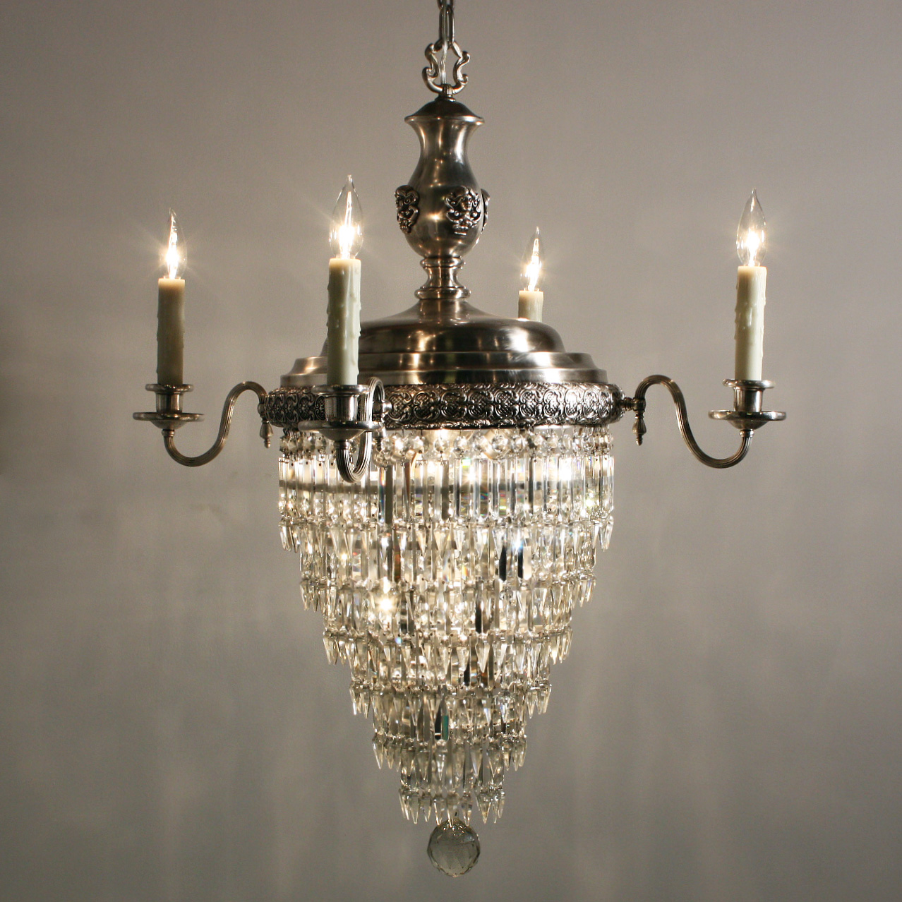 Stunning Antique Figural Silver Plated Tiered Wedding