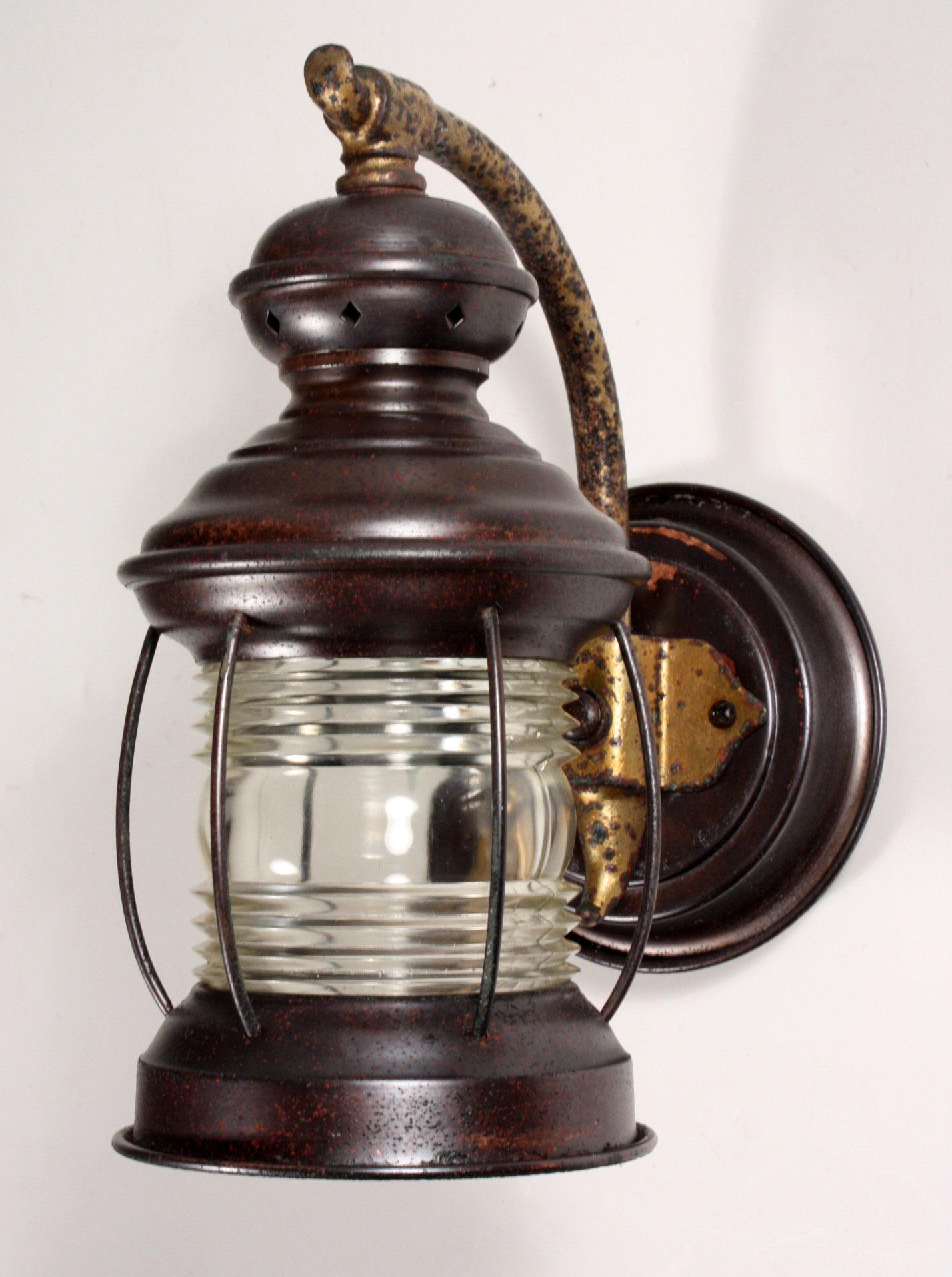 Marvelous Pair of Antique Copper Exterior Lanterns, c ...