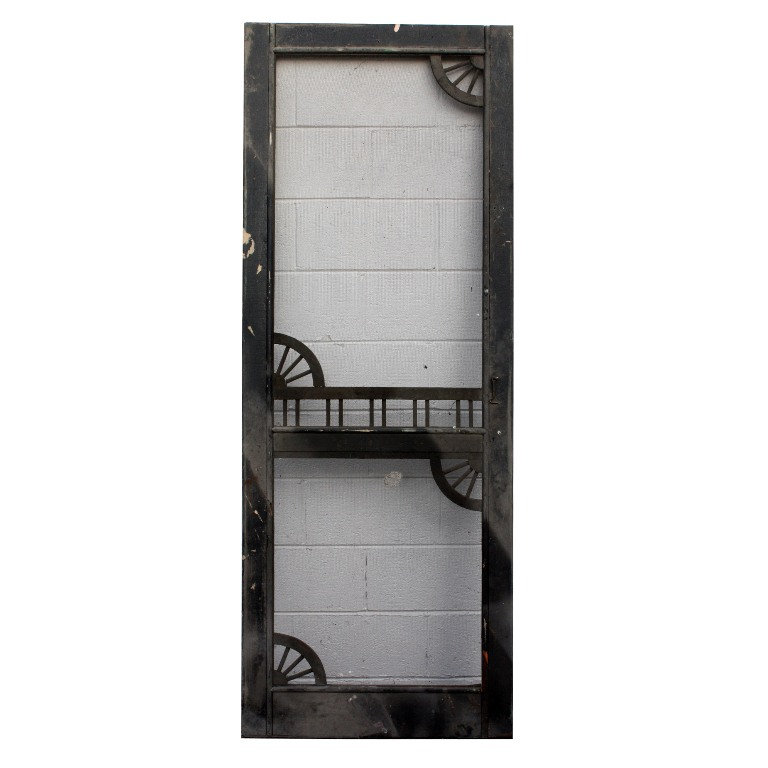 Salvaged antique 30 screen door with decorative detail c for Decorative screen doors