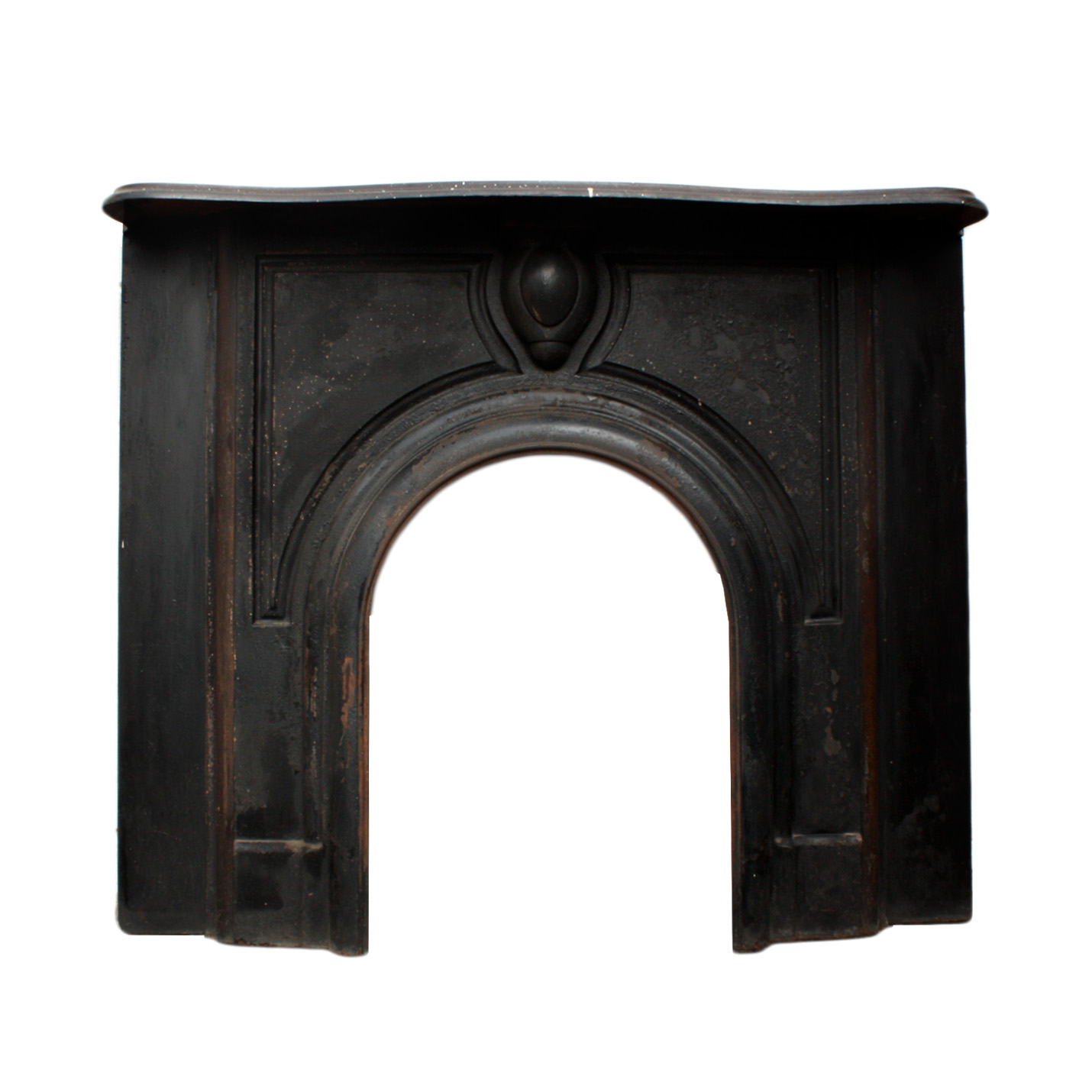 Antique fireplace mantels for sale - A Handsome Antique Cast Iron Fireplace Mantel With An Elegant Understated Cartouche Found In A Home In Michigan The Fireplace Features A Scalloped Shelf