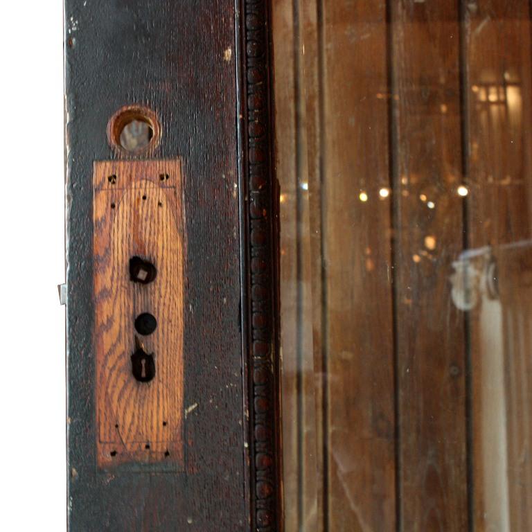 Antique salvaged 36 arts crafts exterior door with egg for Arts and crafts door