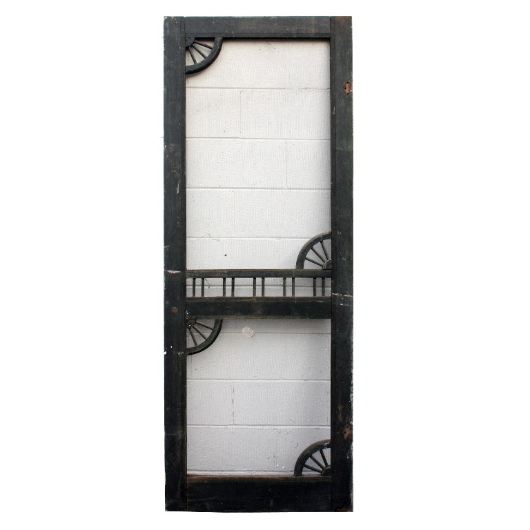 Salvaged antique 30 screen door with decorative detail c for Window screens for sale