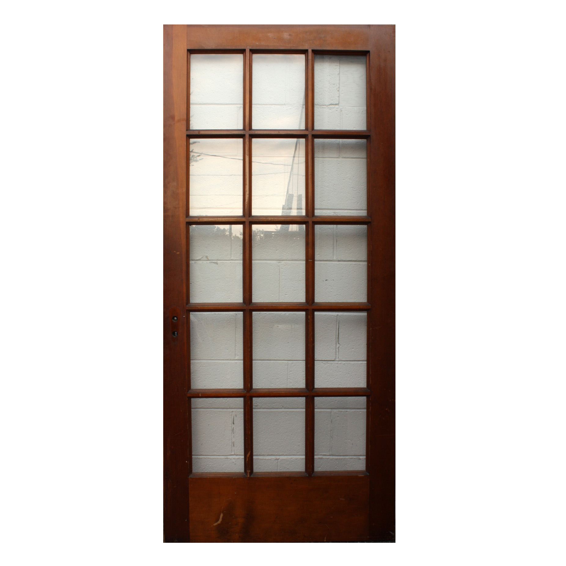 Antique 36 Divided Light Entry Door, NED183-RW For Sale | Antiques ...