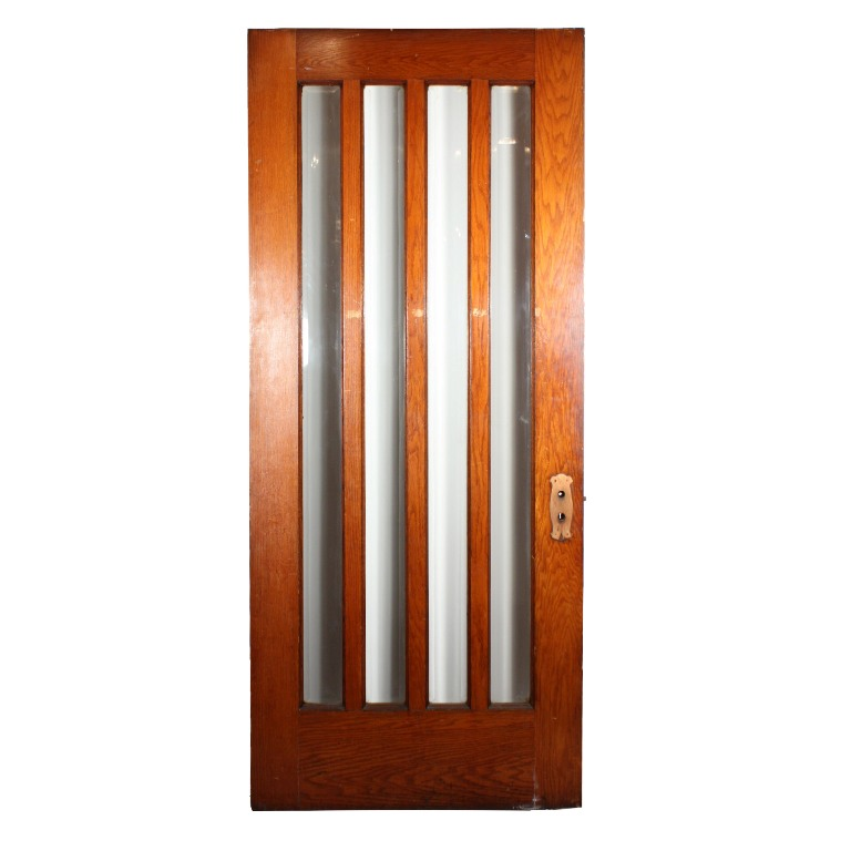 Gorgeous antique exterior 36 door with beveled glass for Exterior glass doors for sale