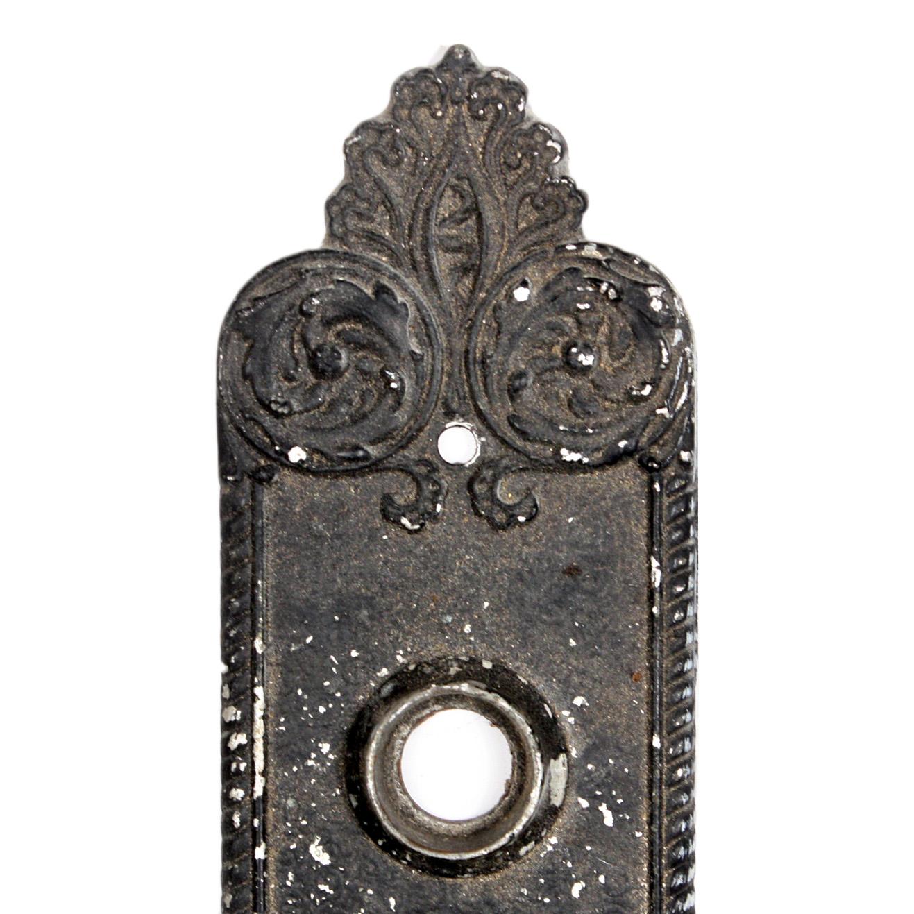 Beautiful Antique Cast Iron Doorplates, Branford Lock Works
