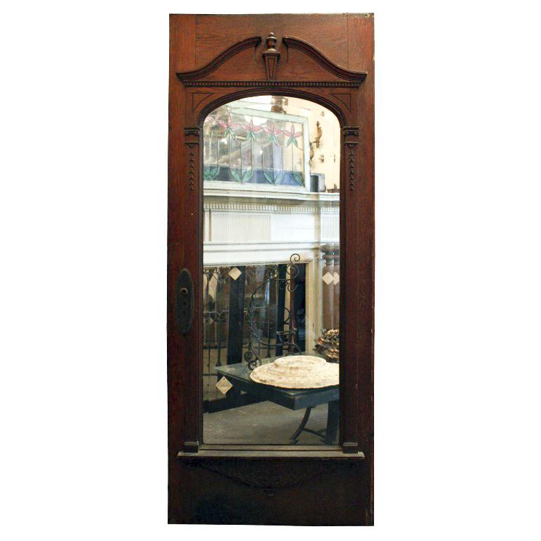 Elegant antique 32 exterior door with beveled glass for Exterior glass doors for sale