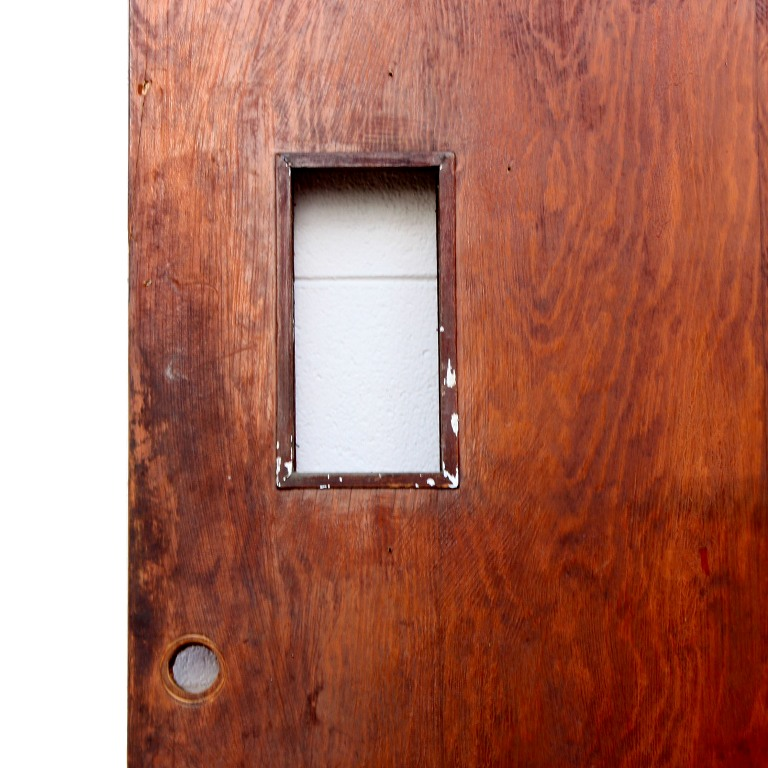 Antique 36 exterior plank door with small window early for Small doors for sale