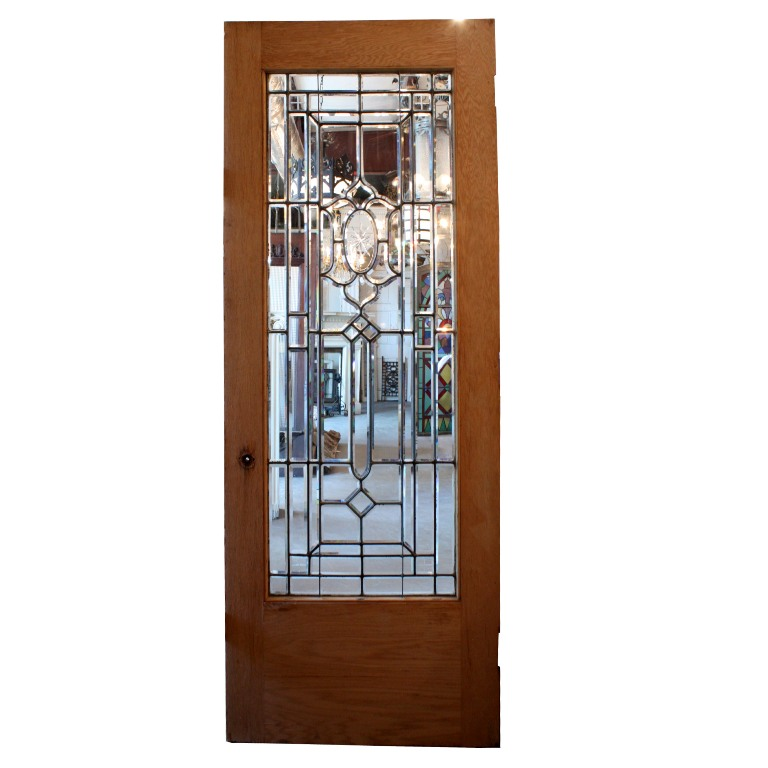 Amazing 34 salvaged exterior door with beveled leaded for Exterior glass doors for sale