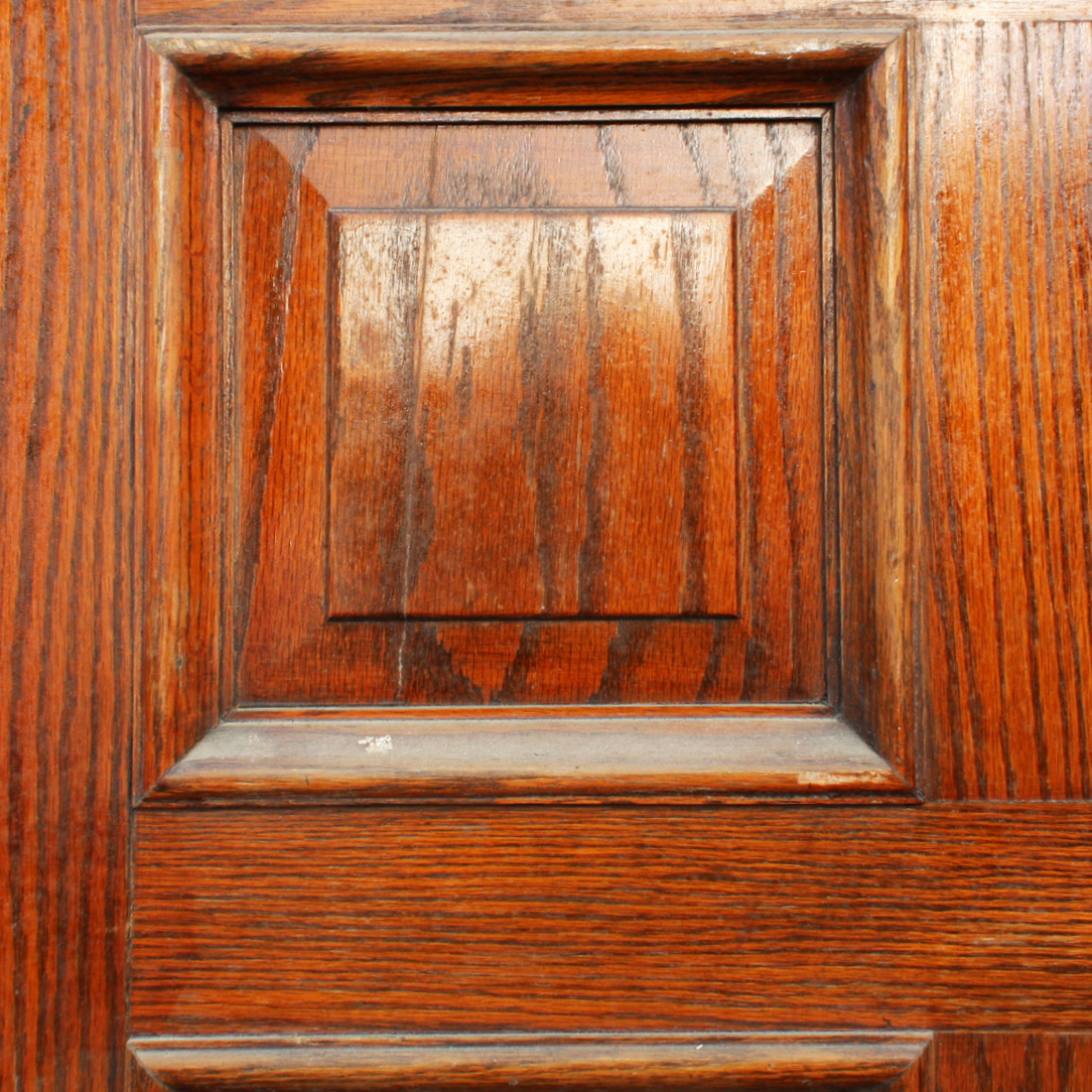Handsome antique 36 solid wood door with recessed panels for Solid wood exterior doors for sale