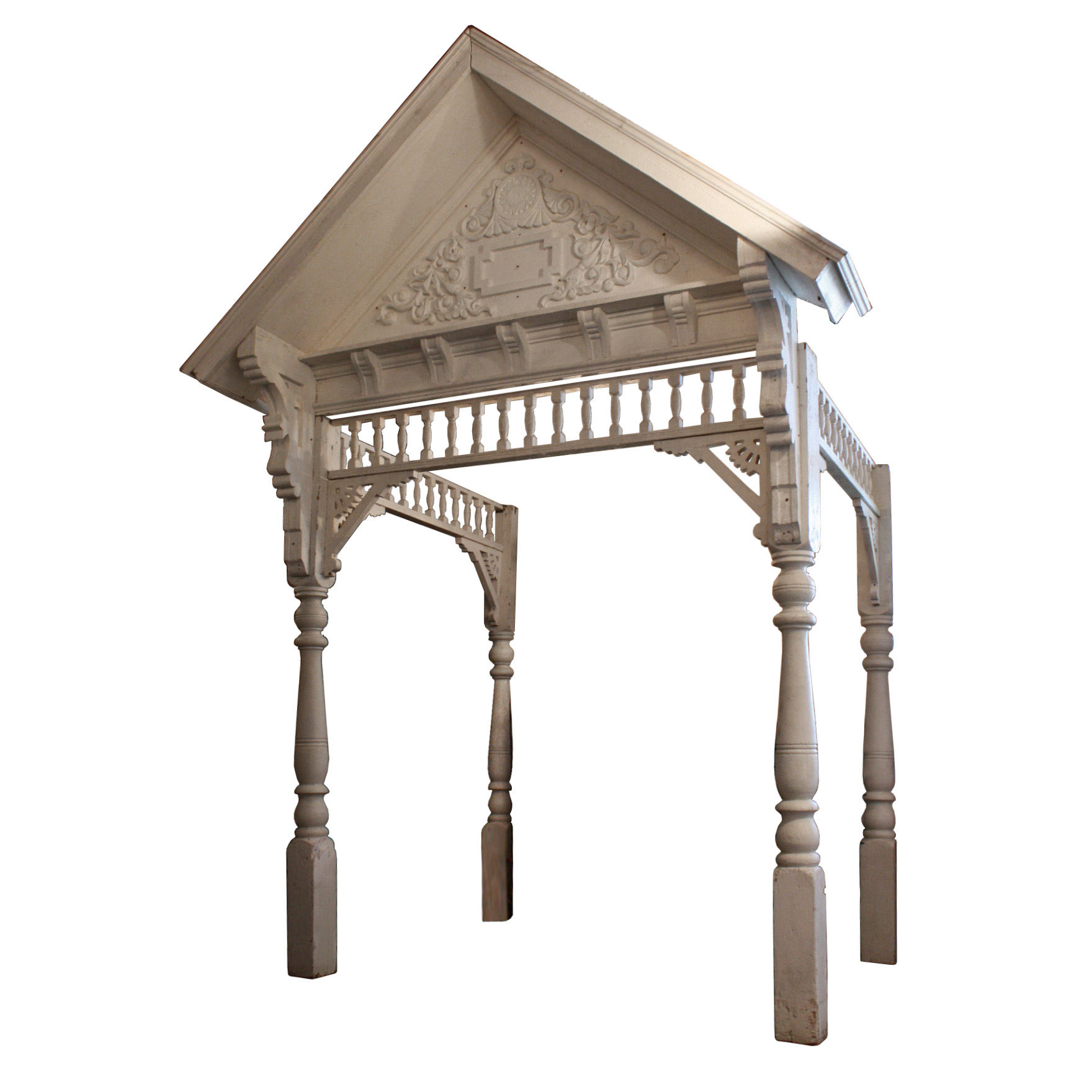extraordinary antique victorian entry portico with