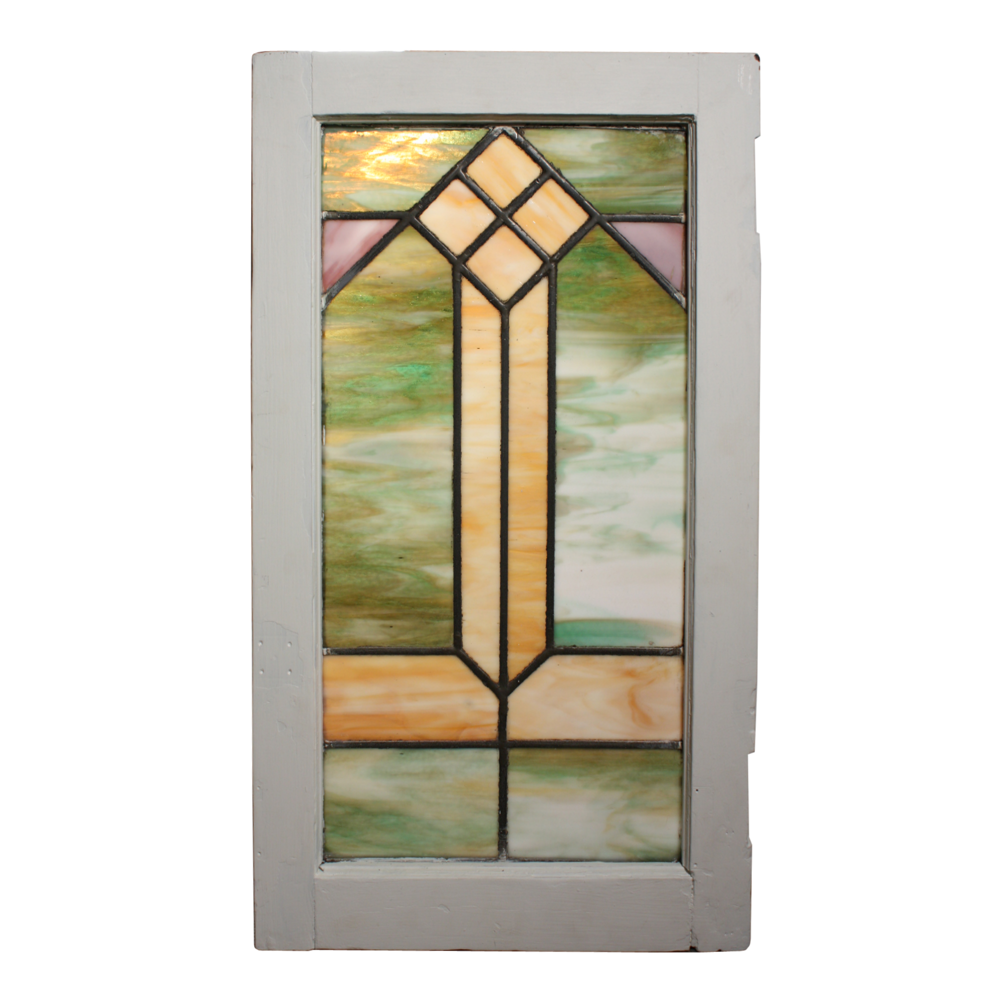 Wonderful antique arts and crafts american stained glass for 1900 stained glass window