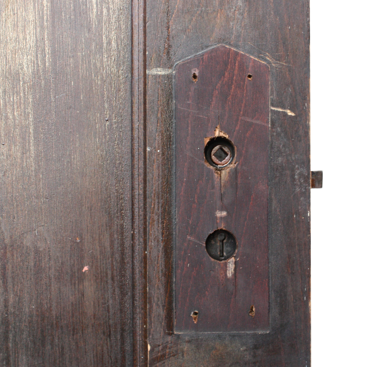 Antique Three Panel Solid Wood Door Stained Finish Nid27 For Sale Classifieds