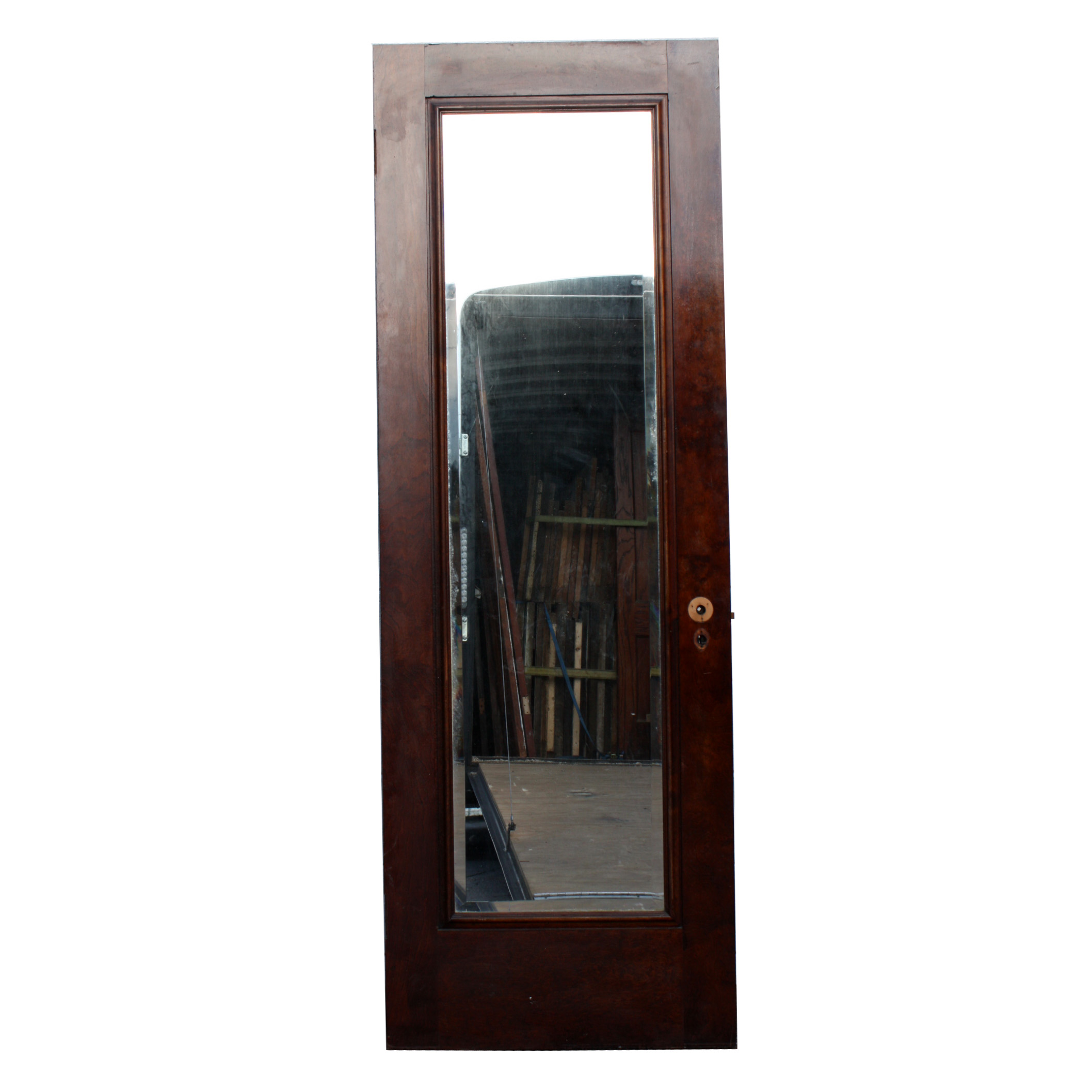 antique one panel 28 solid wood miracle door with beveled