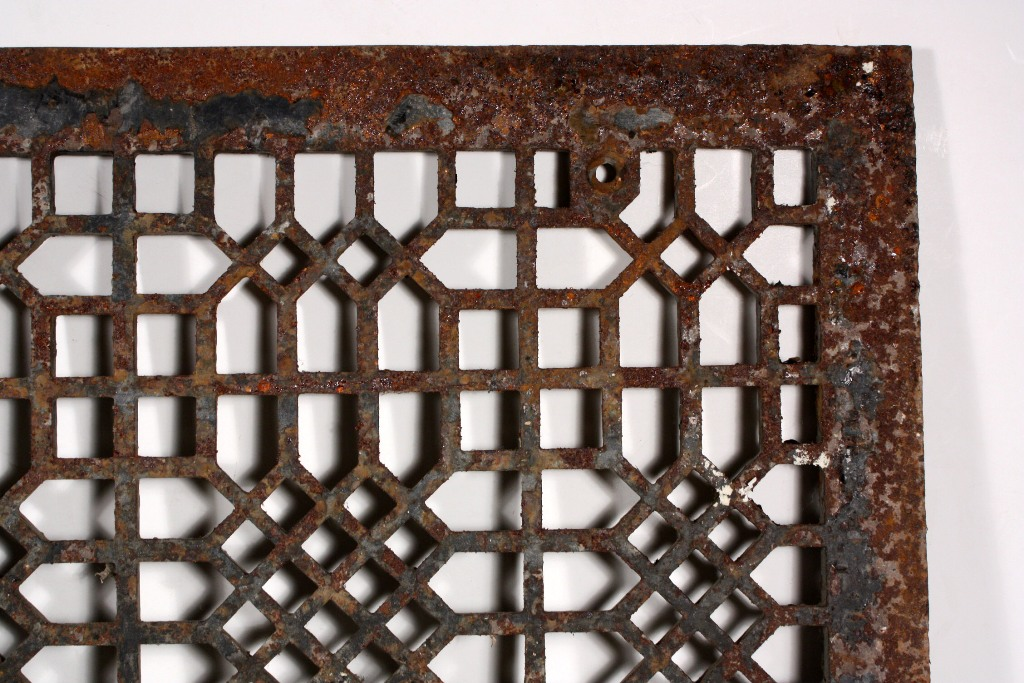 Antique Cast Iron Floor Air Return Grille 20 X 24
