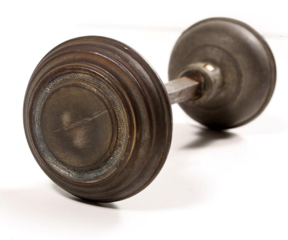 Antique Brass Arts Amp Crafts Door Hardware Set With Knobs