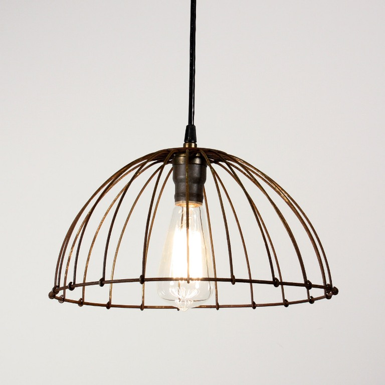 Unique Matching Industrial Wire Basket Pendant Lights -- ONE ...