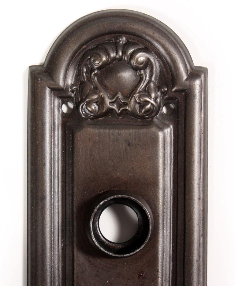 eleven matching antique door hardware sets