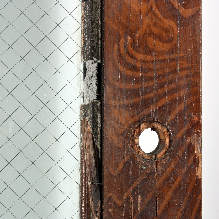 Large Salvaged 40 Entry Door With Carved Trim C 1910 Ned116 For