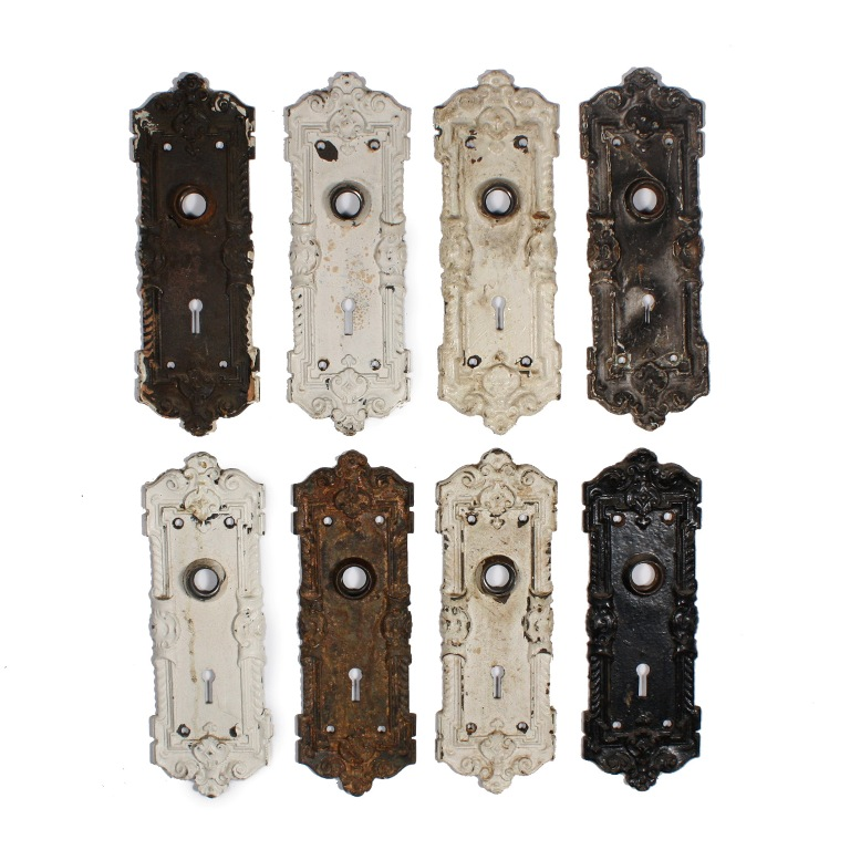 Featuring Exquisite, Unusually Deep Casting, The Plates Are Ornamented With  Leaves, Scrolls, And Rope Detail. The Escutcheon Plates Measure 2 5/8u201d Wide  ...