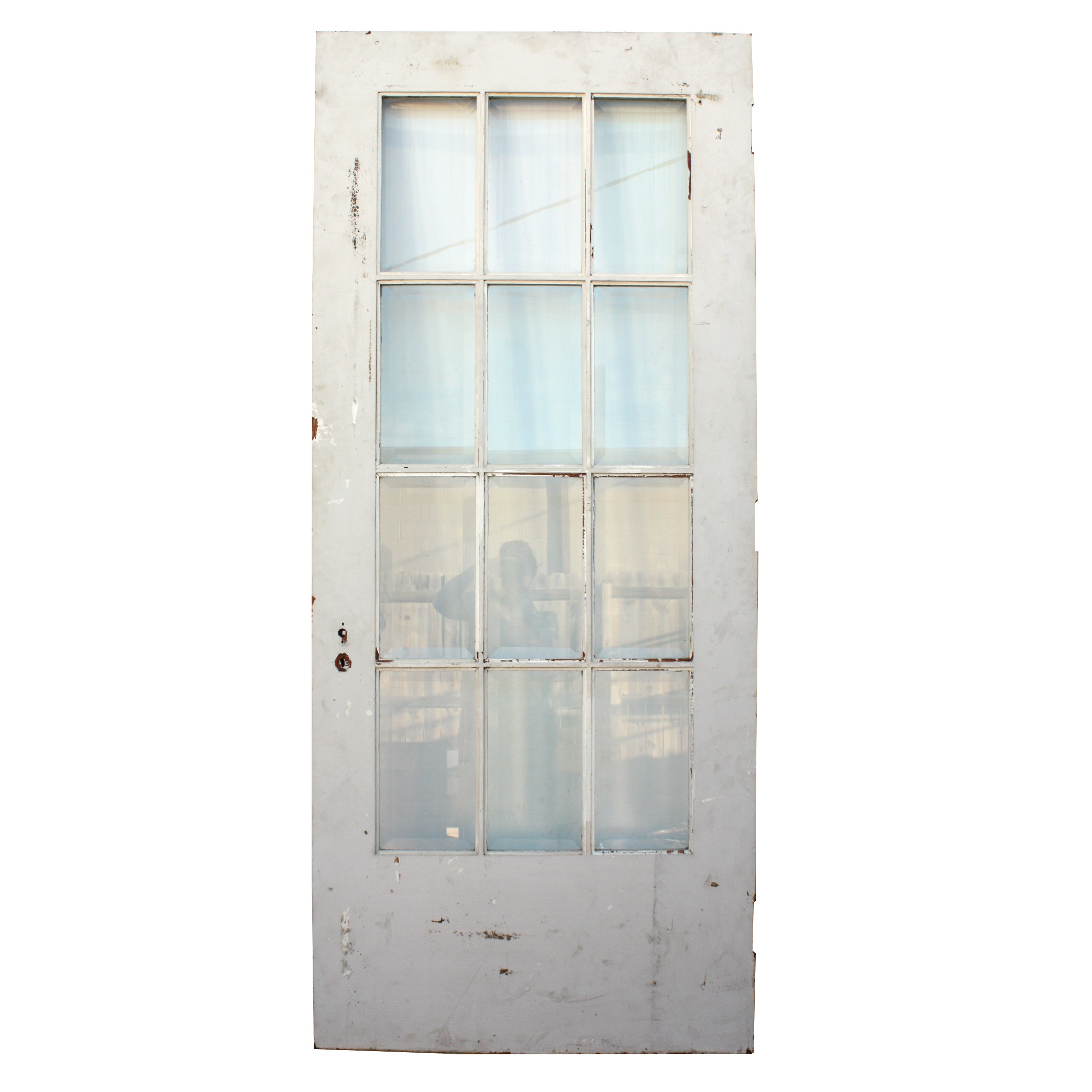 Antique exterior oak door with beveled glass 3 x 7 for Exterior glass doors for sale