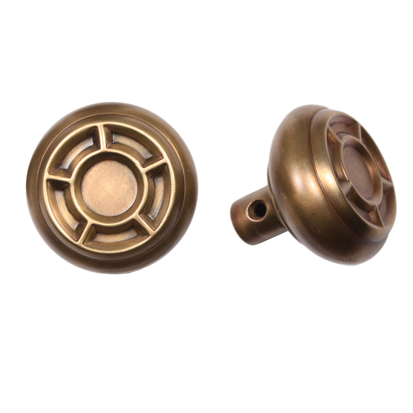An Unusual Antique Brass Arts U0026 Crafts Door Exterior Hardware Set, Dating  From The Early 1900u0027s. The Set Includes The Doorknobs With The Connecting  Rod And ...