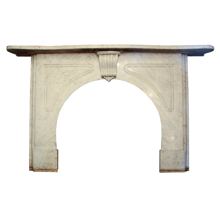 Remarkable Antique Marble Fireplace Mantel C 1870 Nfpm24 Rw For Sale Classifieds