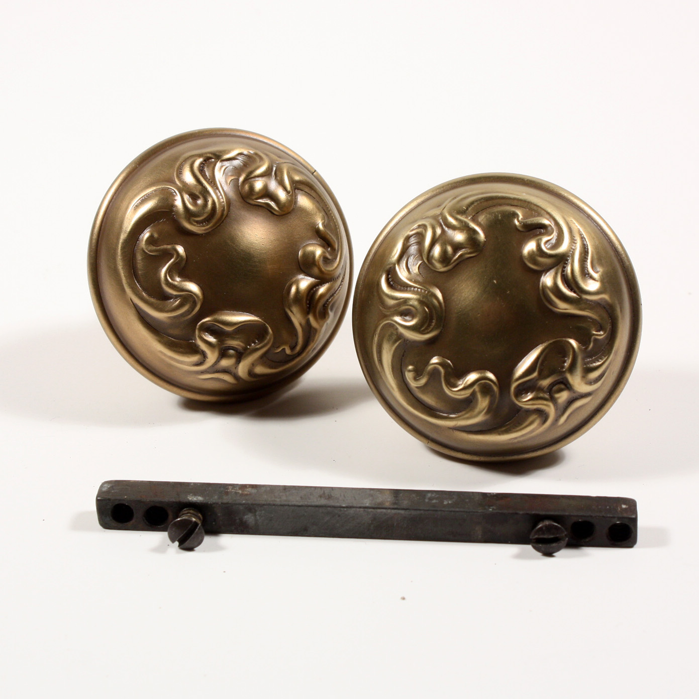 from set a door knobs plain antique doors ironmongery of cushion style knob brass british pin