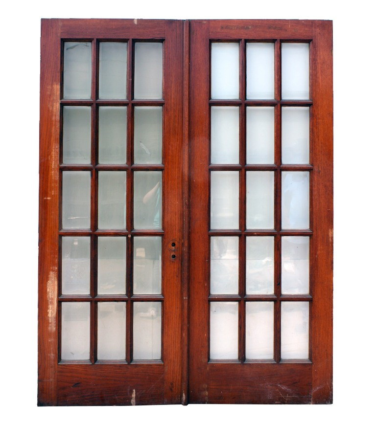 Fabulous pair of salvaged 30 french doors oak with for French doors for sale